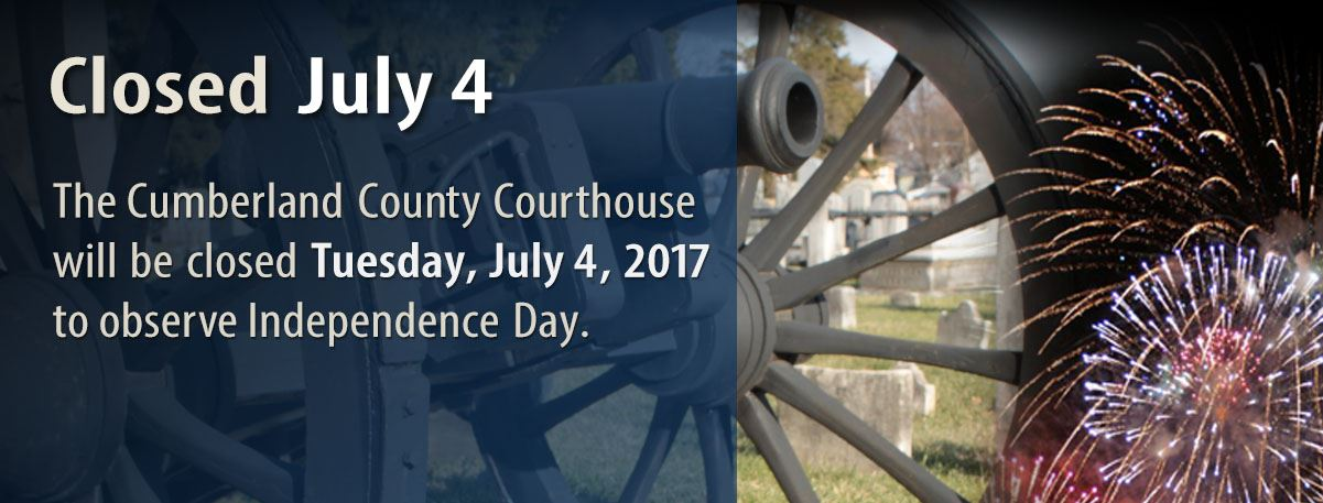 Courthouse Closed 4th of July