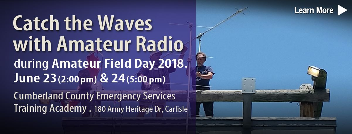 Amatuer Radio Field Day will take place on June 23 and 24.