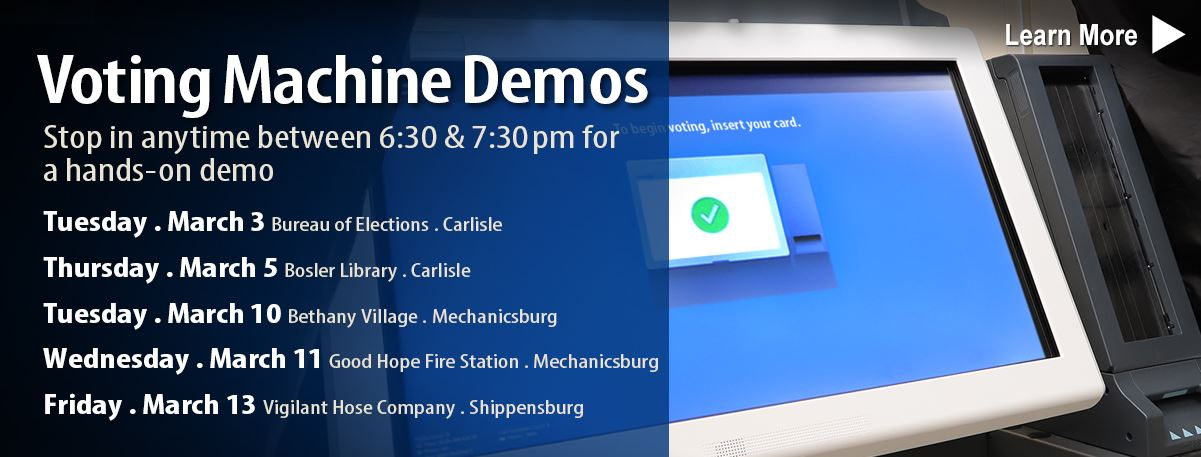 Voting Machines Demo . March 3 at Bureau of Elections