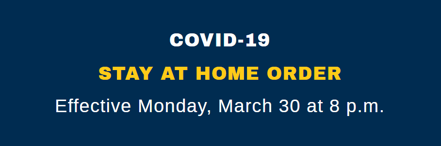 Cumberland County COVID-19 Stay At Home Order Effective March 30 at 8:00 p.m.